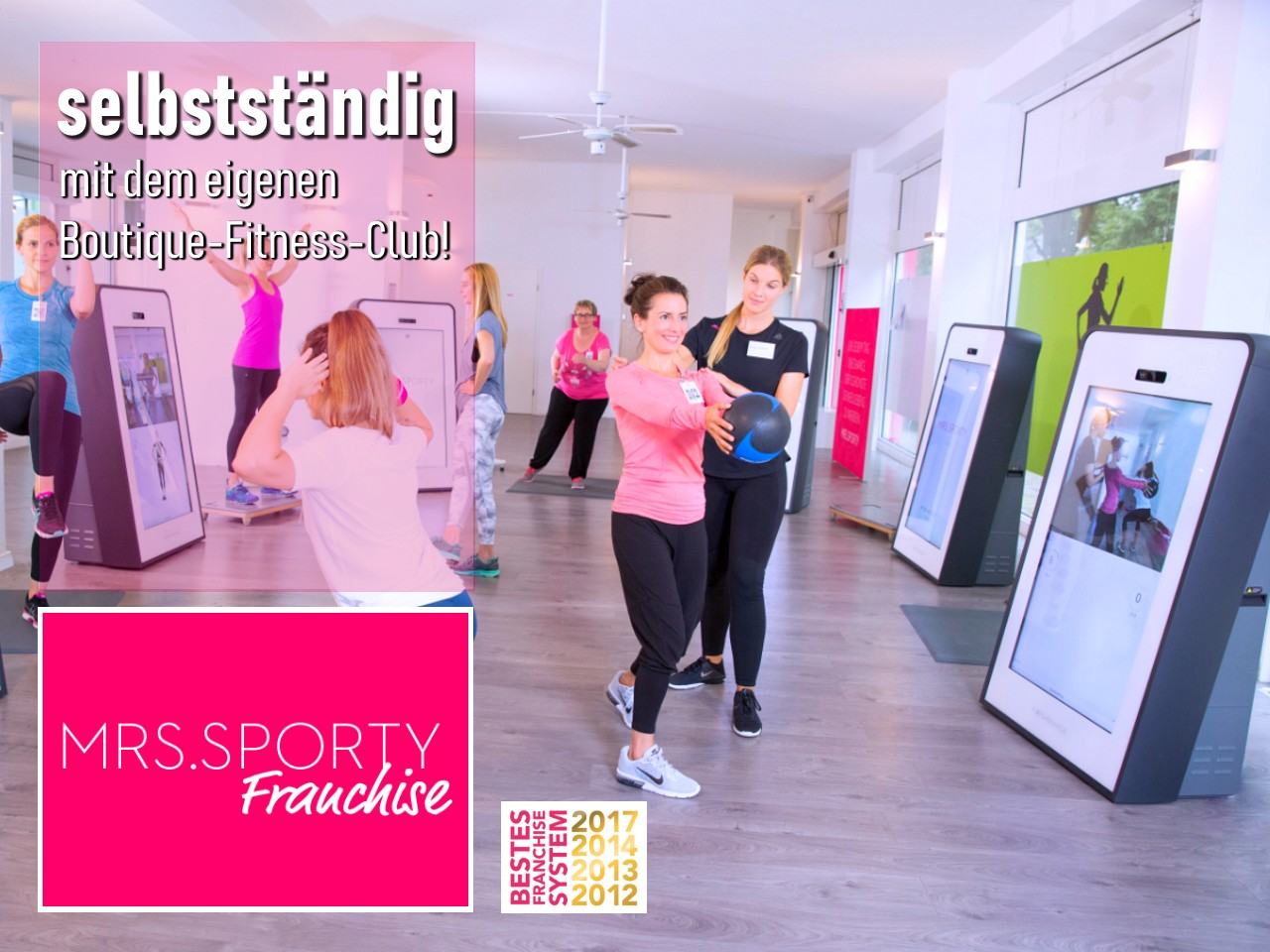 Mrs Sporty Fitness Boutique Franchise für Frauen